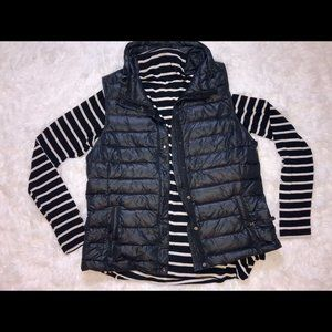 Black Quilted Puffer Gap Vest